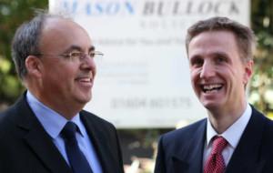 Ian Mason and Andrew Crisp, partners in Mason Bullock Solicitors