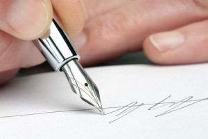 Signing a Settlement Agreement